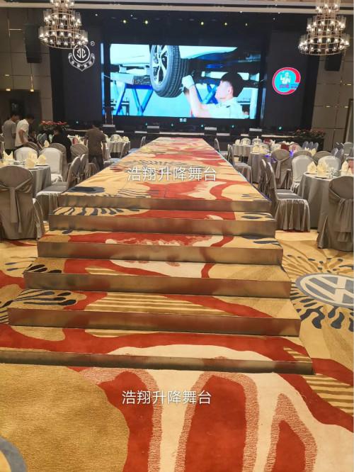 广东中山金宁集团选择浩翔升降舞台,已验收完毕