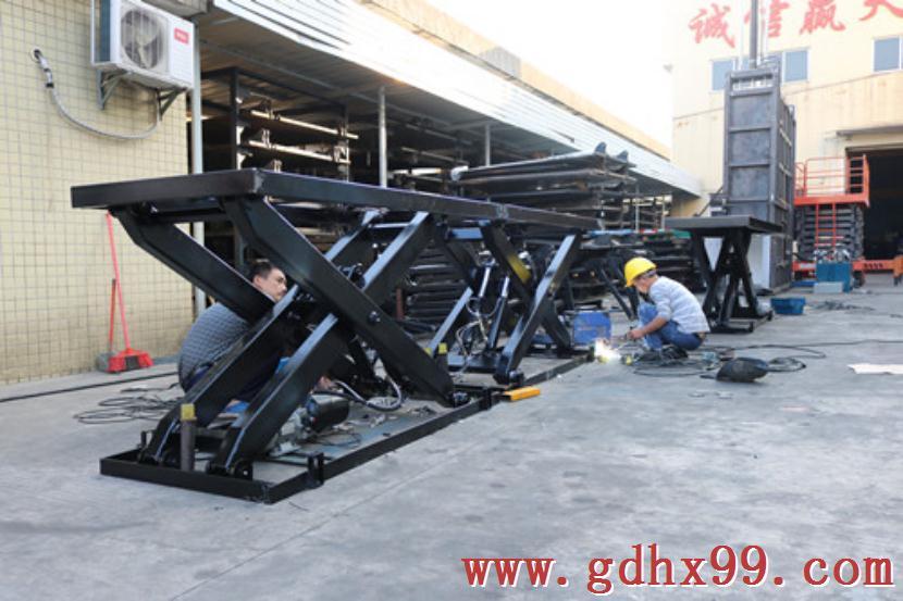 东莞洗洁用品制造公司定制双剪叉液压升降平台