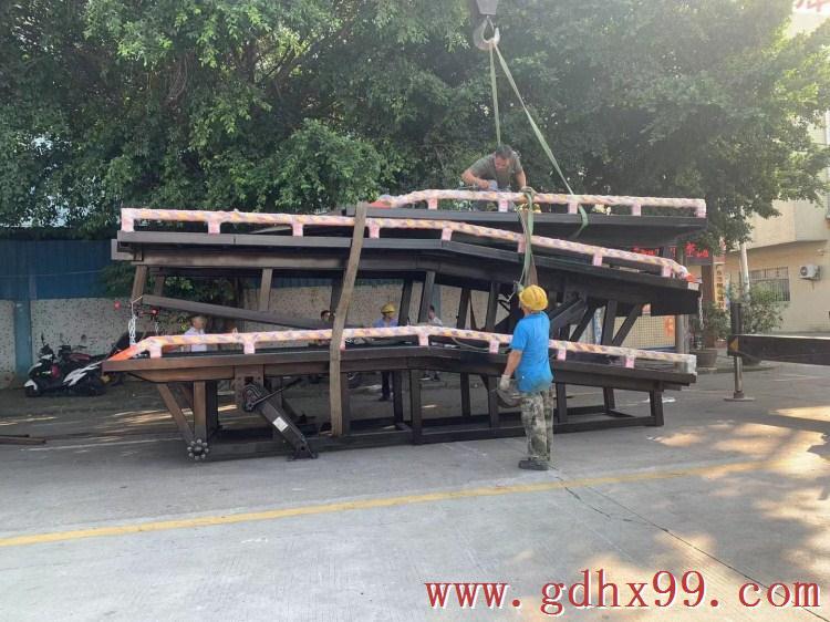 浩翔机械厂又出新品分段式液压式登车桥啦!